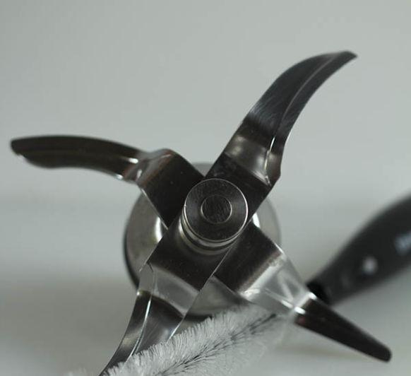 Limpieza de las cuchillas