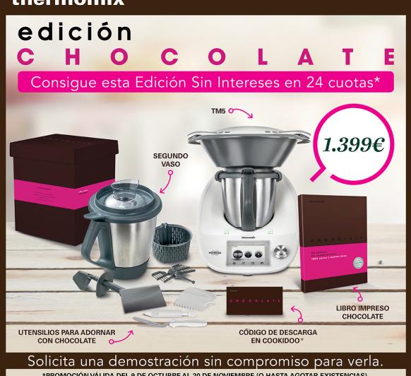 promocion 0% con edicion chocolate