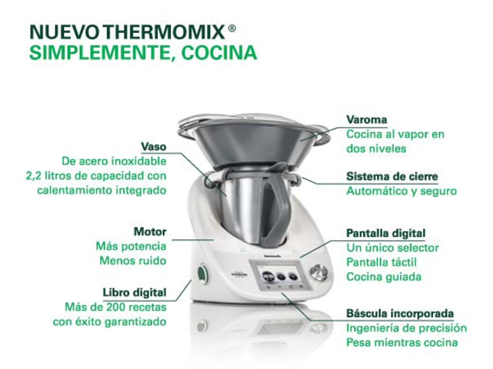 Características Técnicas Vorwerk Thermomix Tm5 Técnicas
