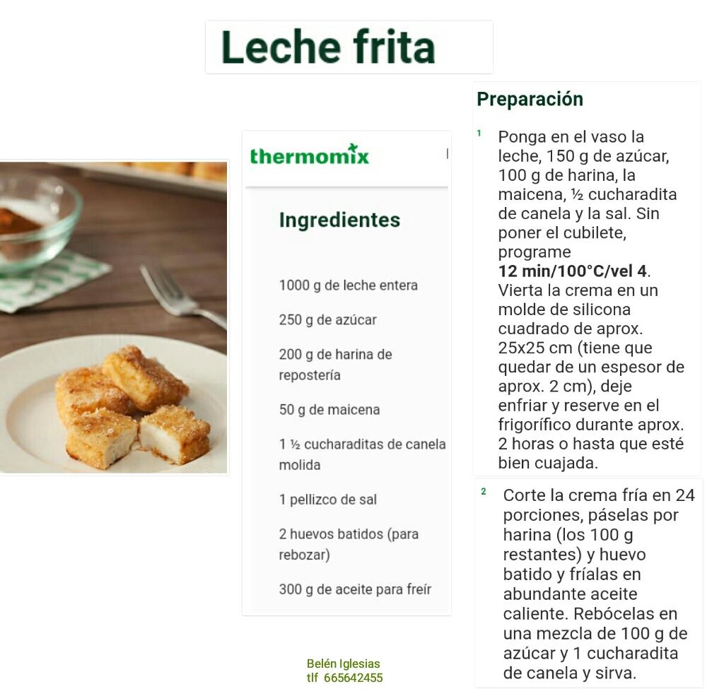 Leche Frita Postres Y Dulces Blog De Mbelen Iglesias