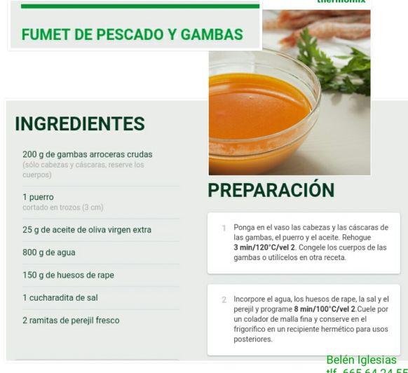 FUMET DE PESCADO Y GAMBAS