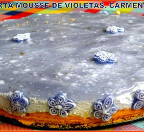 TARTA MOUSSE DE VIOLETAS