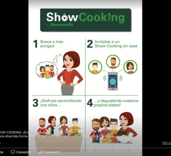 Pasa una tarde divertida con tus amigos cocinando haciendo un show cooking.