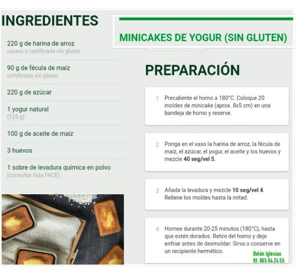 SIN GLUTEN-MINI CAKES DE YOGUR-