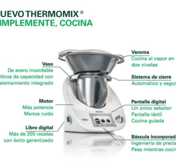 Características técnicas Vorwerk Thermomix® TM5