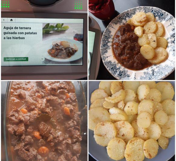 Ternera guisada con patatas aliñadas