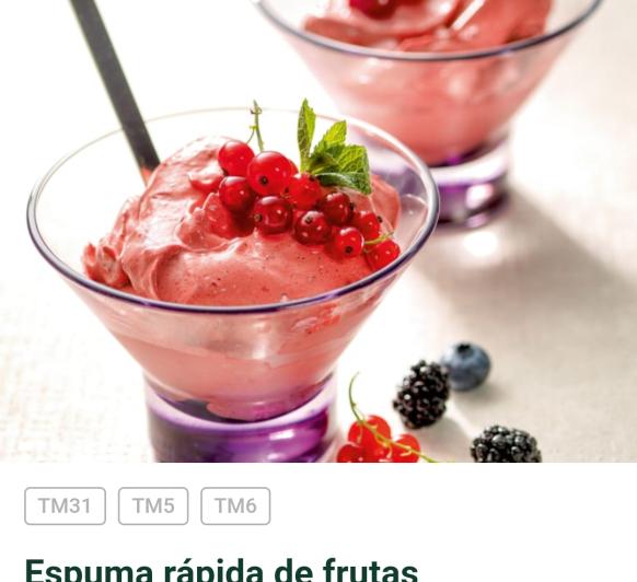 YoMeQuedoEnCasa con Thermomix® Espuma de frutas