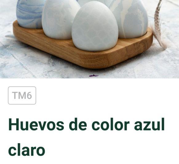 HUEVOS AZULES DE PASCUA CON Thermomix®
