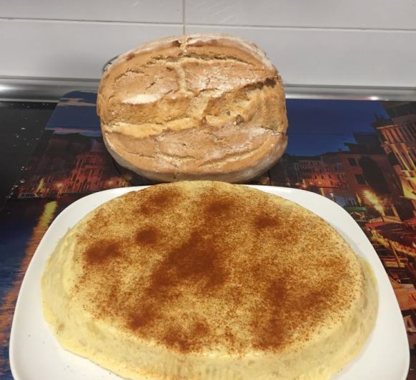 Tortilla al vapor con patata cocida