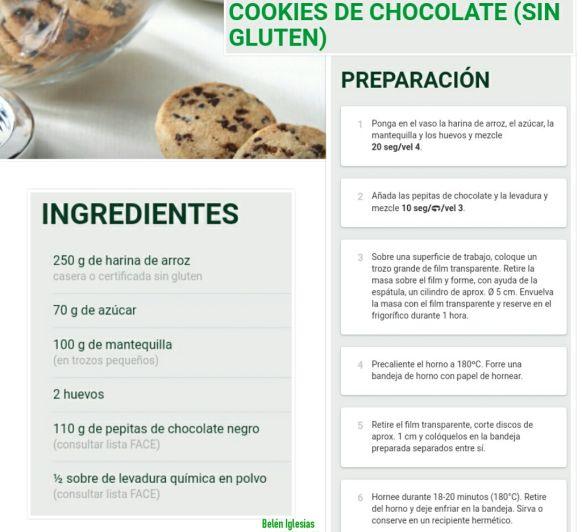 SIN GLUTEN - COOKIES DE CHOCOLATE -
