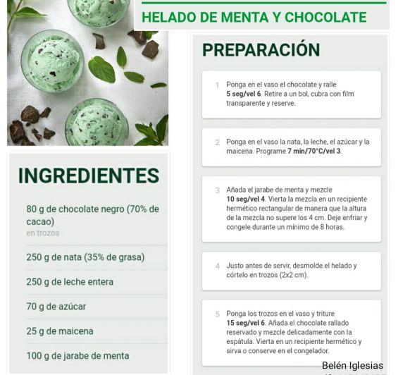 HELADO DE MENTA Y CHOCOLATE