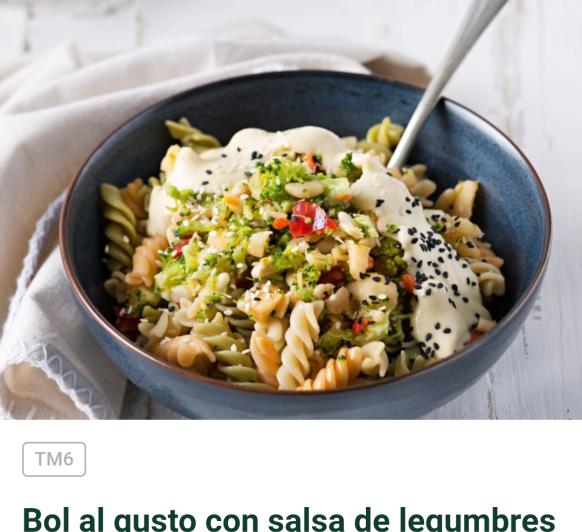 YoMeQuedoEnCasa Bol al gusto con salsa de legumbres